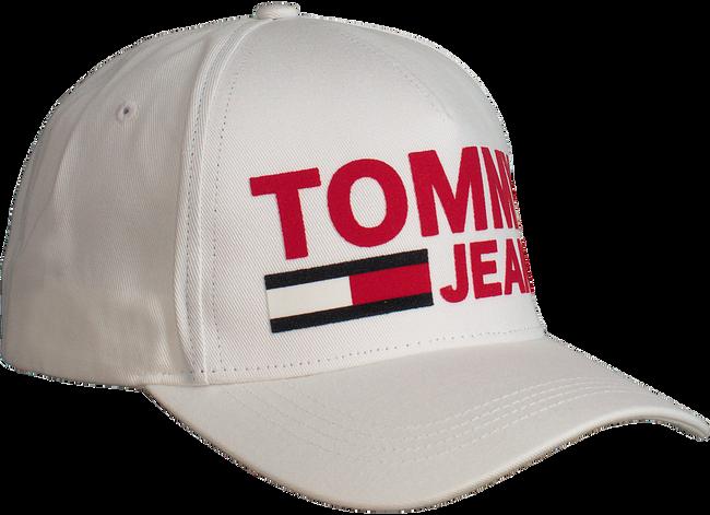 Witte TOMMY HILFIGER Pet TJU FLOCK PRINT CAP - large