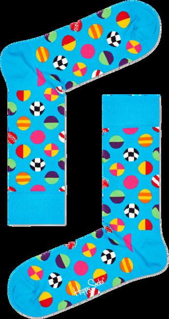 Blauwe HAPPY SOCKS Sokken CLASHING DOT SOCK  - large
