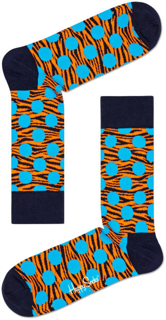 Blauwe HAPPY SOCKS Sokken TIGER DOT SOCK  - large