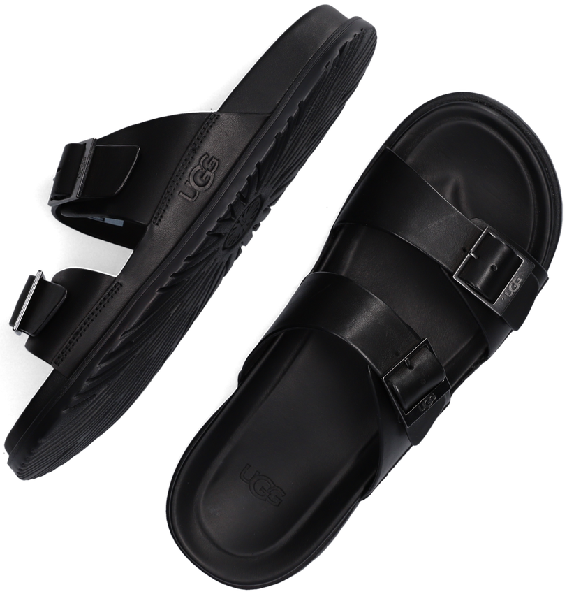 Zwarte UGG Slippers M WAINSCOTT BUCKLE SLIDE  - larger
