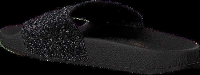 Zwarte THE WHITE BRAND Slippers GLITTER BEACH - large