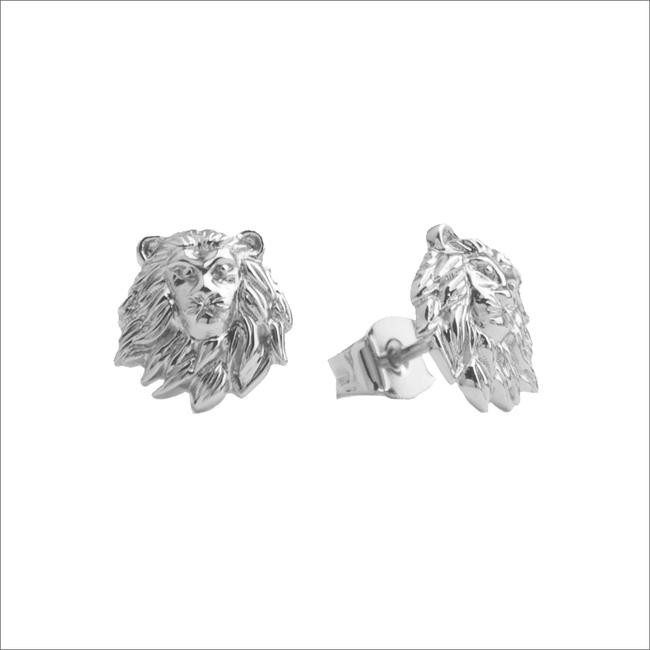 Zilveren ATLITW STUDIO Oorbellen PARADE EARRINGS LION - large