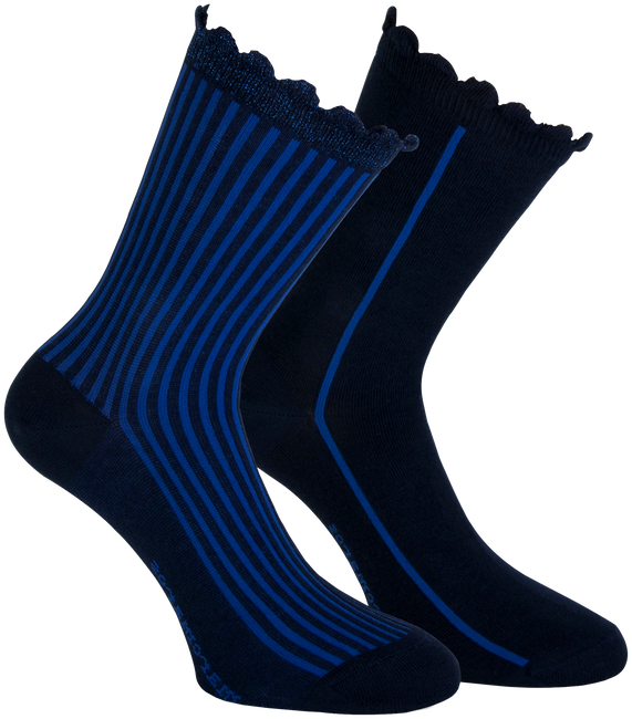 Blauwe MARCMARCS Sokken AMY COTTON 2-PACK - large