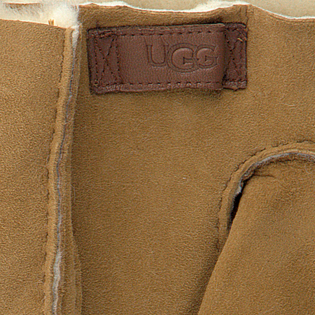 Camel UGG Handschoenen CONTRAST SHEEPSKIN GLOVE  - large