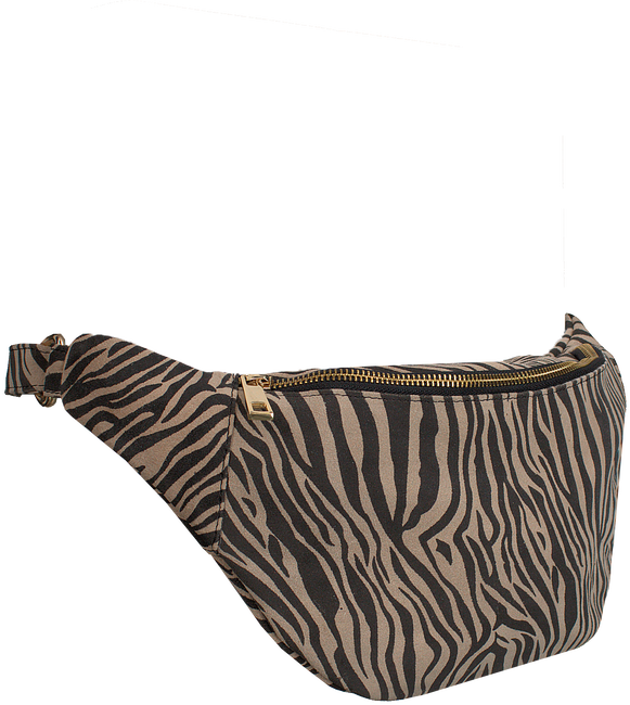 Beige DEPECHE Heuptas BUM BAG ANIMAL - large