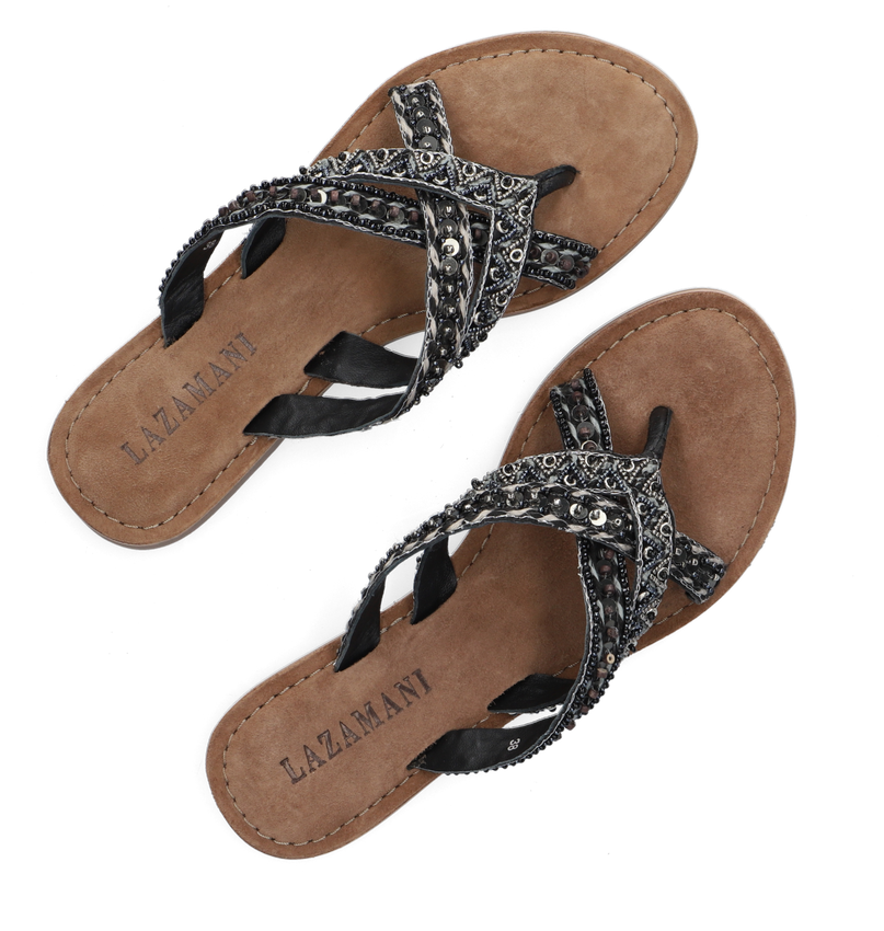 Zwarte LAZAMANI Slippers 75.526 - larger