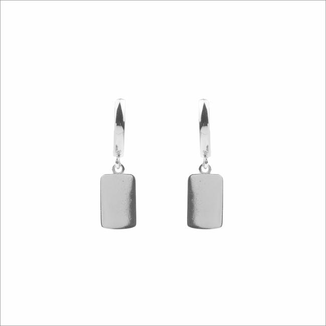 Zilveren ATLITW STUDIO Oorbellen SOUVENIR EARRINGS RECTANGLE - large