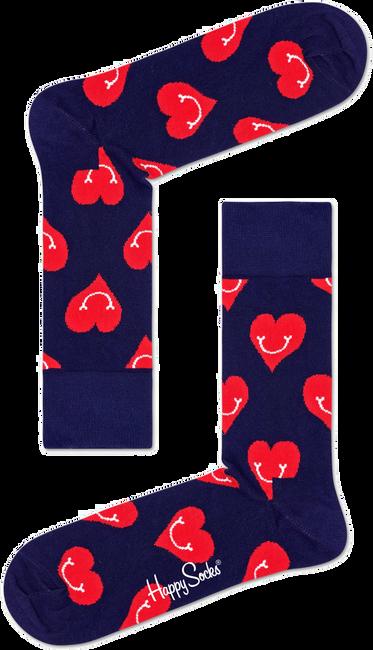 Blauwe HAPPY SOCKS Sokken SMILEY HEART - large