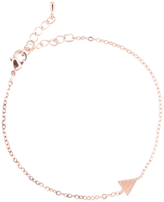 Roségouden ATLITW STUDIO Armband ELEMENTS BRACELET TRIANGLE SOLID - large