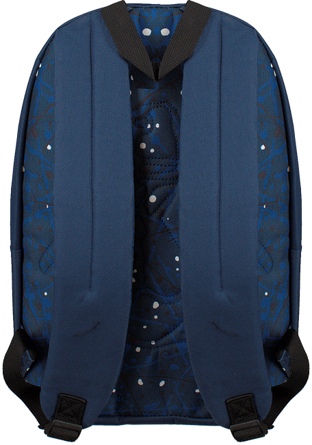Blauwe ORIGINAL PENGUIN Rugtas CHATHAM SCRIBBLE BACKPACK - large