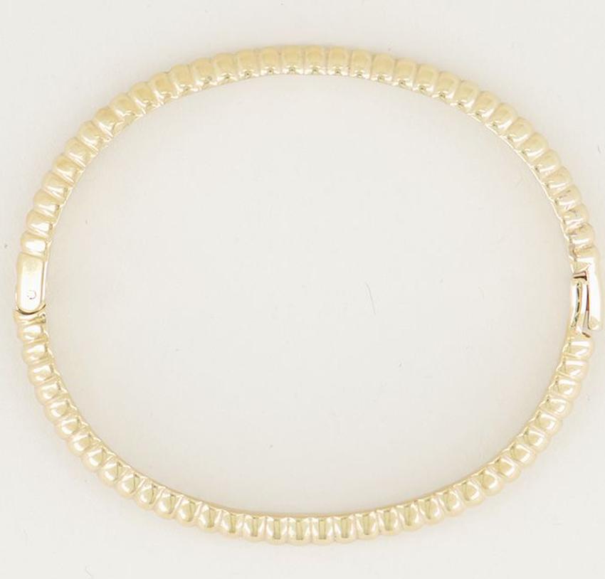 Gouden MY JEWELLERY Armband BANGLE GERIBBELD BREED - larger