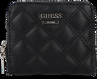 Zwarte GUESS Portemonnee CESSILY SMALL ZIP AROUND  - medium