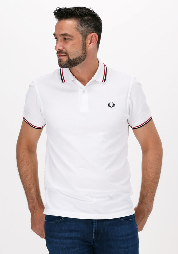 Witte FRED PERRY Polo TWIN TIPPED PRED PERRY SHIRT  - larger