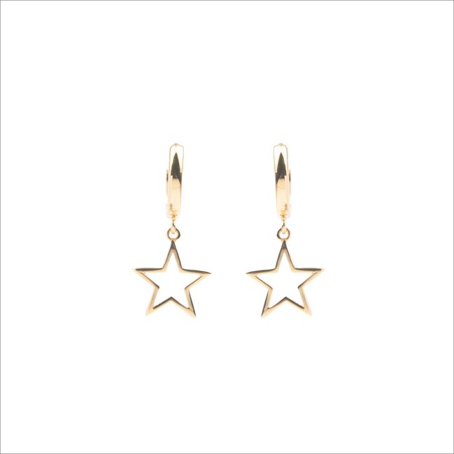 Gouden ATLITW STUDIO Oorbellen SOUVENIR EARRINGS STAR - large