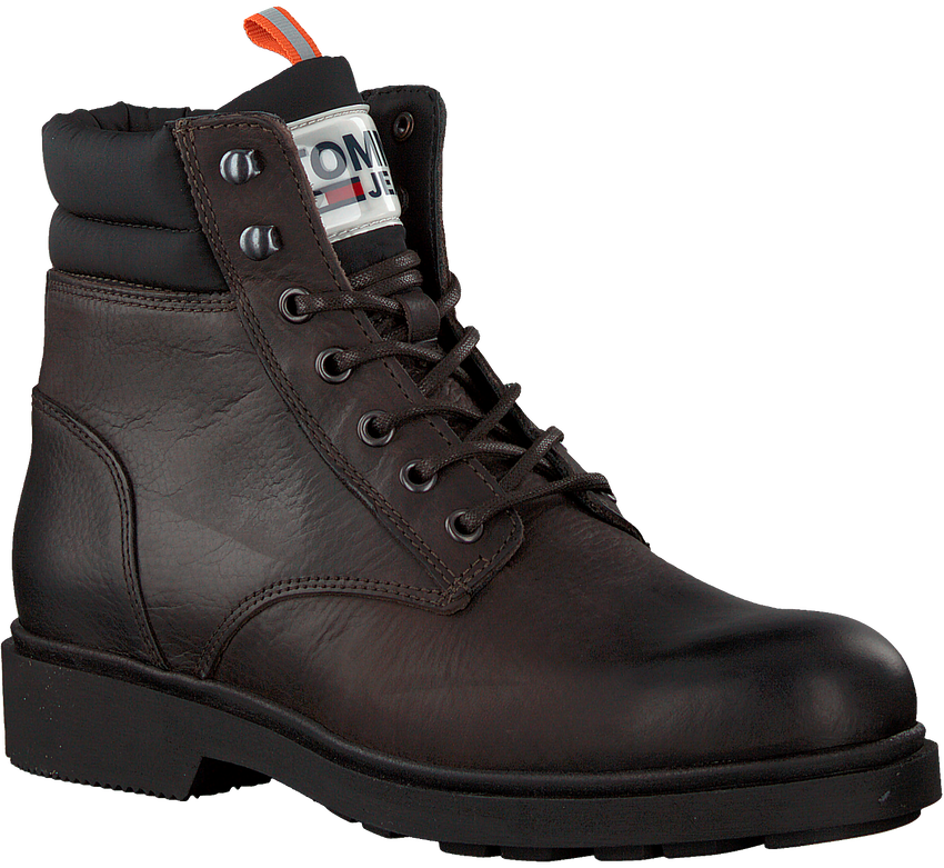 Bruine TOMMY HILFIGER Veterboots CASUAL BOOT  - larger