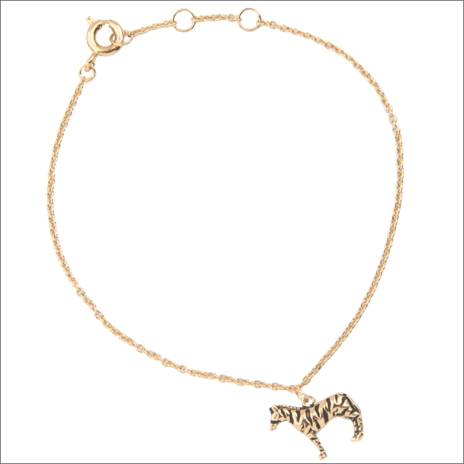 Gouden ALLTHELUCKINTHEWORLD Armband SOUVENIR BRACELET ZEBRA - large