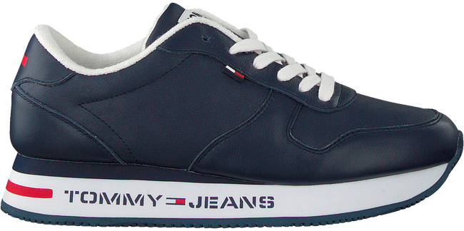 Blauwe TOMMY HILFIGER Lage sneakers FLATFORM RUNNER  - large