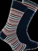 Blauwe MARCMARCS Sokken DION COTTON 2-PACK  - medium