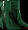 Groene NIKKIE Enkellaarsjes VELVET ANKLE BOOTS  - small