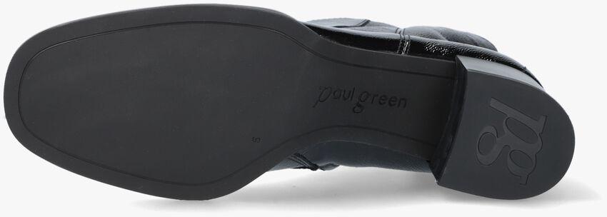 Zwarte PAUL GREEN Enkellaarsjes 9918  - larger