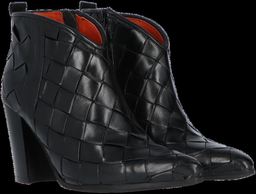 Zwarte NOTRE-V Enkellaarsjes 09B-201  - larger