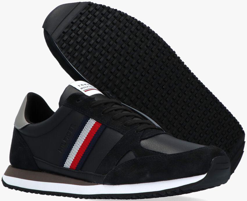 Zwarte TOMMY HILFIGER Lage sneakers RUNNER LO STRIPES  - larger