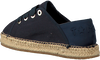 Blauwe TOMMY HILFIGER Espadrilles TH METALLIC LACE UP ESPADRILLE  - small