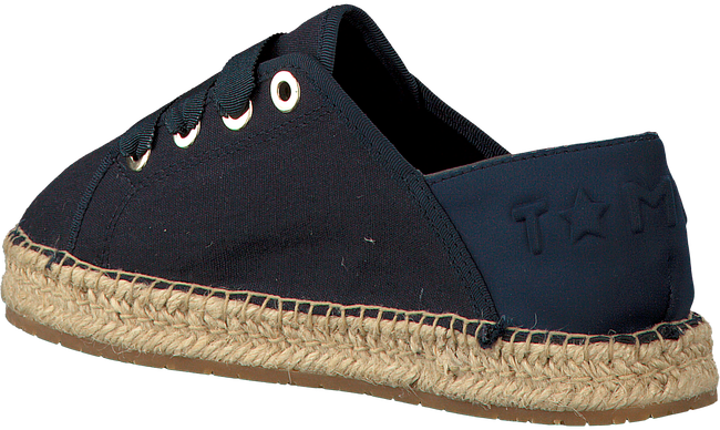 Blauwe TOMMY HILFIGER Espadrilles TH METALLIC LACE UP ESPADRILLE  - large