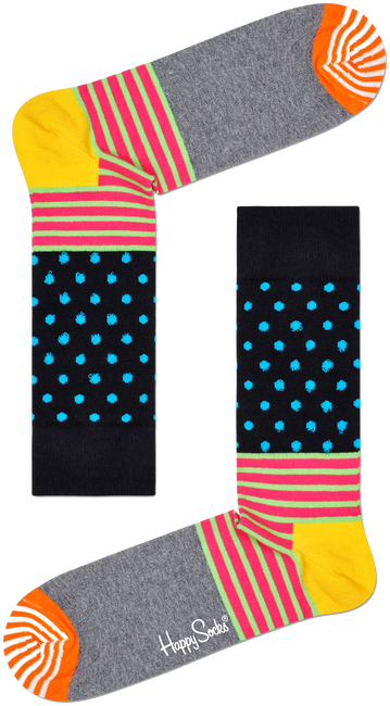 Blauwe HAPPY SOCKS Sokken STRIPES & DOT - large