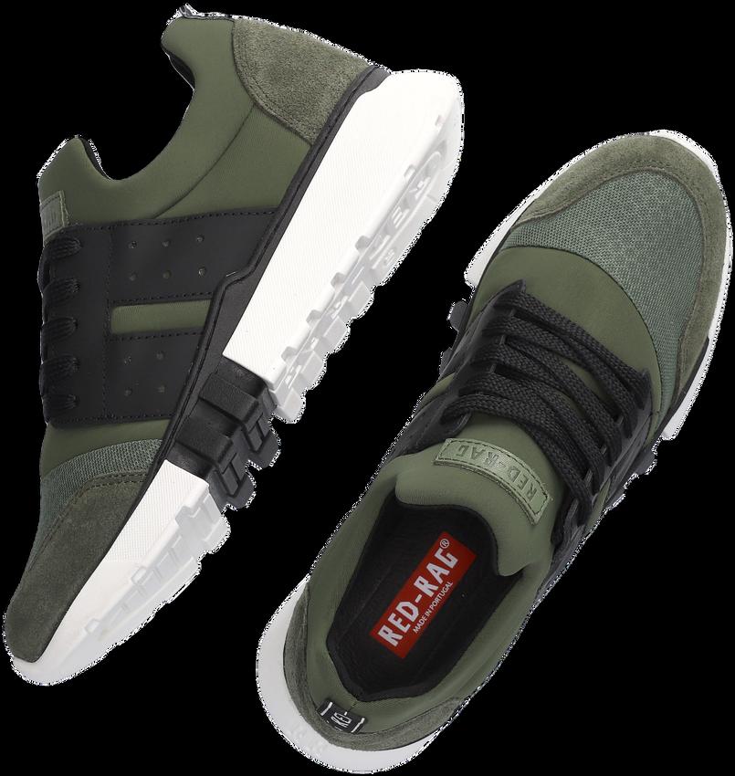 Groene RED-RAG Lage sneakers 13447  - larger