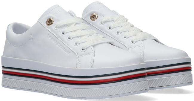 Witte TOMMY HILFIGER Lage sneakers CORPORATE FLATFORM CUPSOLE - large