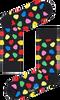 Zwarte HAPPY SOCKS Sokken APPLE  - small