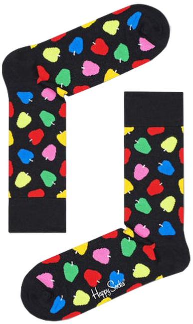 Zwarte HAPPY SOCKS Sokken APPLE  - large