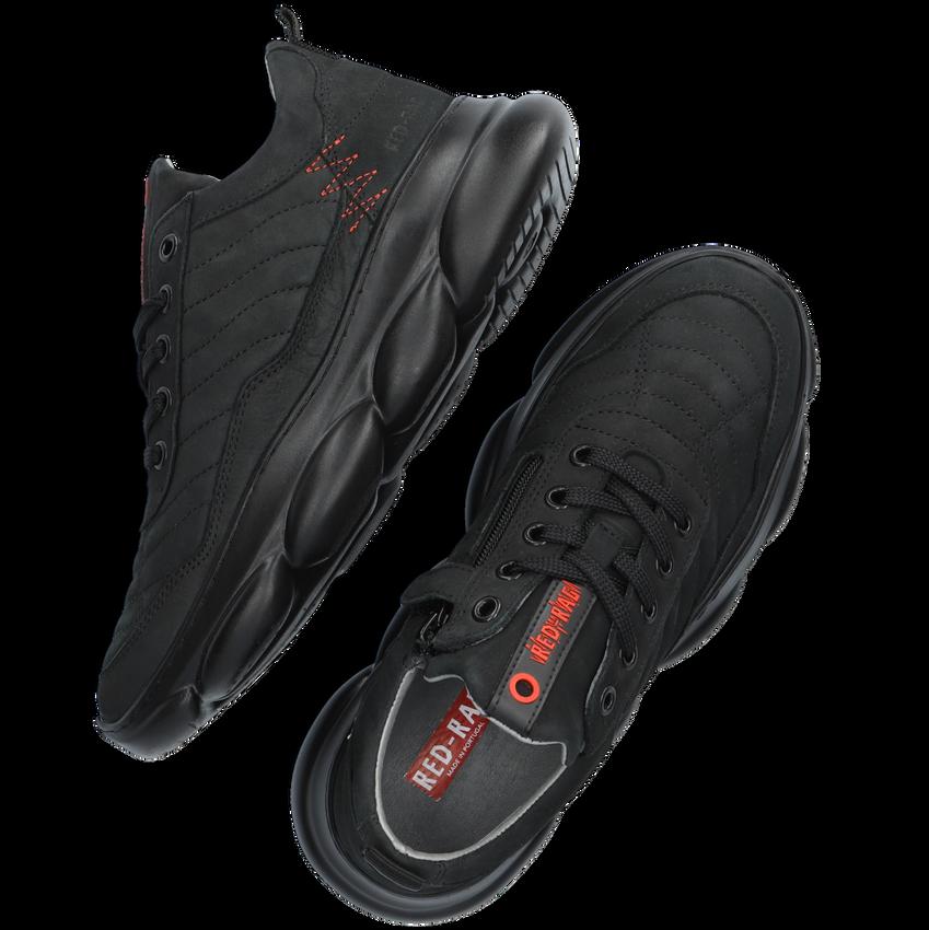 Zwarte RED-RAG Lage sneakers 13541  - larger
