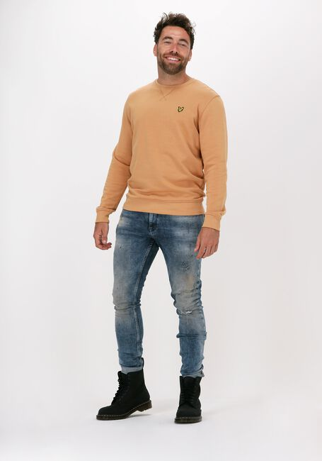 Beige LYLE & SCOTT Sweater CREW NECK SWEATSHIRT - large