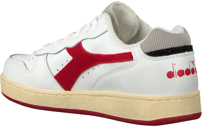 Witte DIADORA Lage sneakers MI BASKET LOW USED  - large