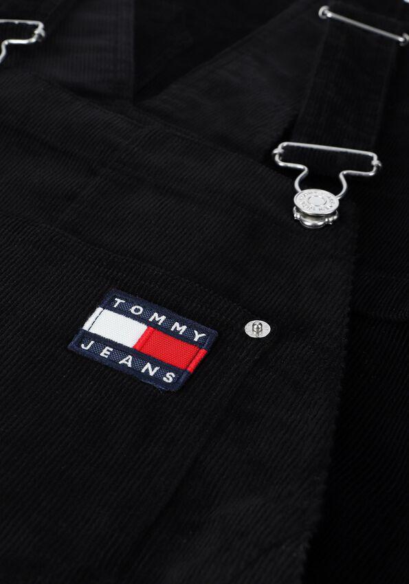 Zwarte TOMMY JEANS Mini jurk TJW CORD BUNGAREE DRESS - larger