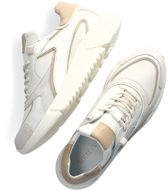 Witte NOTRE-V Lage sneakers J5314B  - large