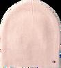 Roze TOMMY HILFIGER  Muts FLAG KNIT BEANIE  - small