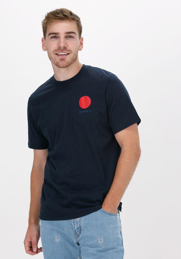 Blauwe EDWIN T-shirt JAPANESE SUN TS  - larger