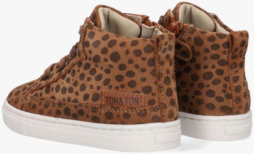Bruine TON & TON Hoge sneaker LAILA  - larger
