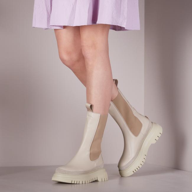 Beige JANET & JANET Chelsea boots 01000  - large