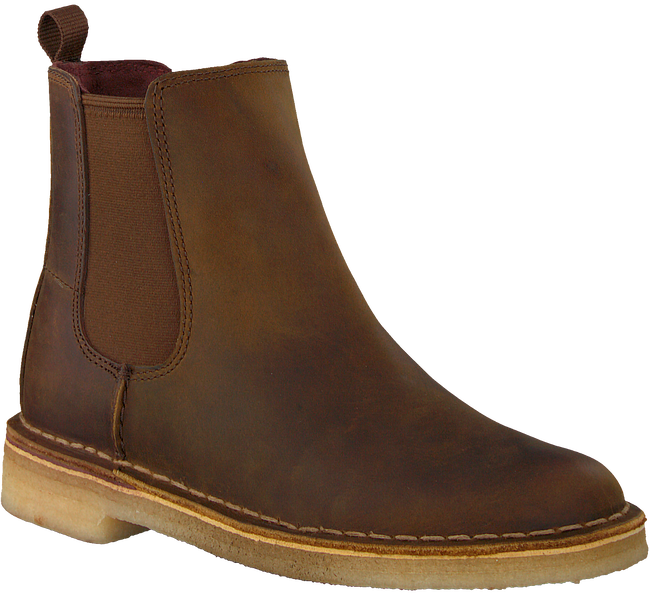 Bruine CLARKS Chelsea boots DESERT PEAK - large