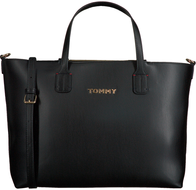Zwarte TOMMY HILFIGER Shopper ICONIC TOMMY SATCHEL - large