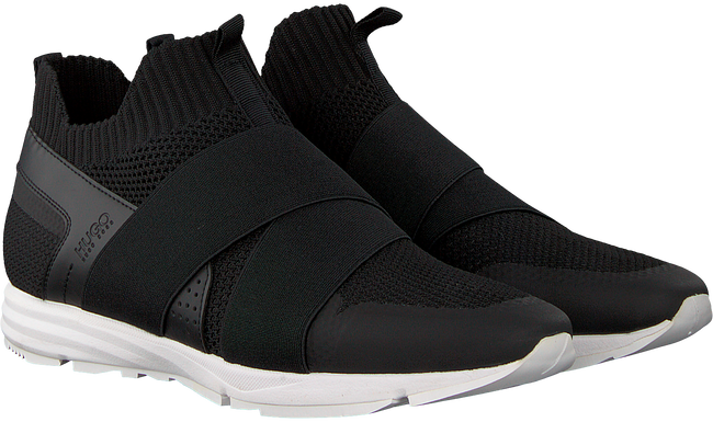 Zwarte HUGO Sneakers HYBRID RUNN KNTEL - large