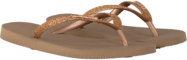 Gouden HAVAIANAS Slippers SLIM GLITTER  - large