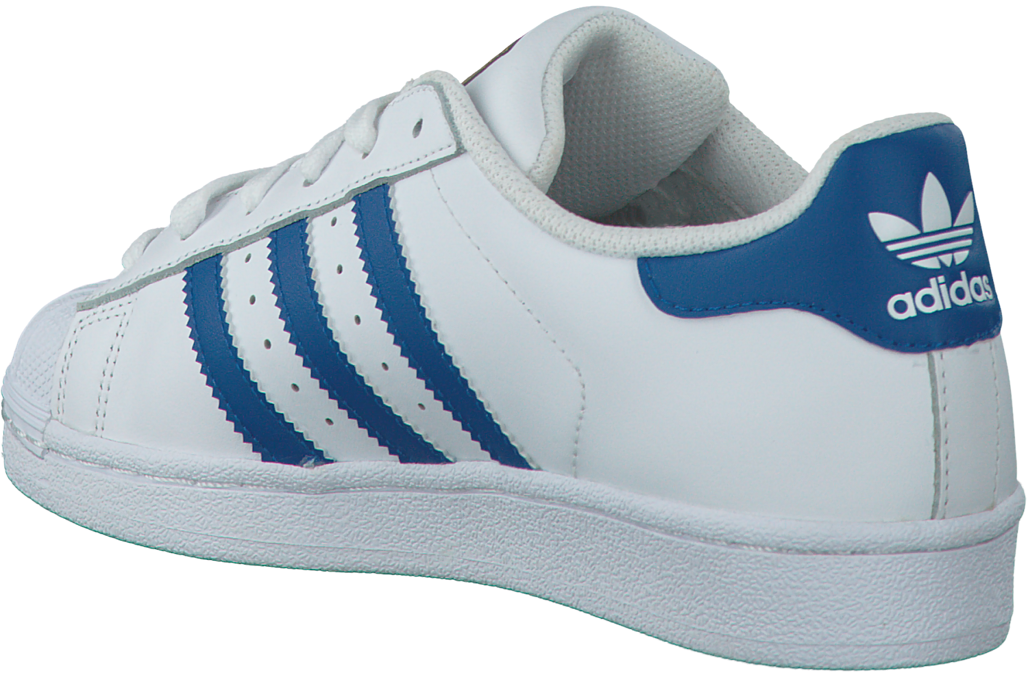 adidas superstar heren wit blauw
