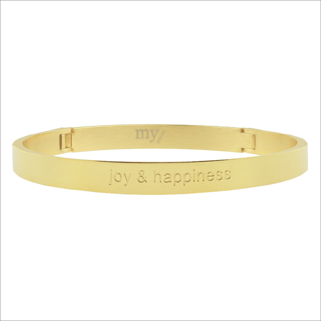Gouden MY JEWELLERY Armband JOY & HAPPINESS - large