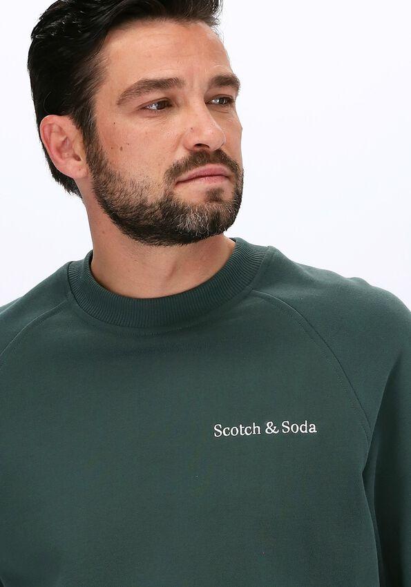 Groene SCOTCH & SODA Sweater FELPA CREWNECK SWEAT IN ORGANI  - larger