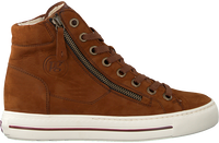 Cognac PAUL GREEN Hoge sneaker 4024  - medium